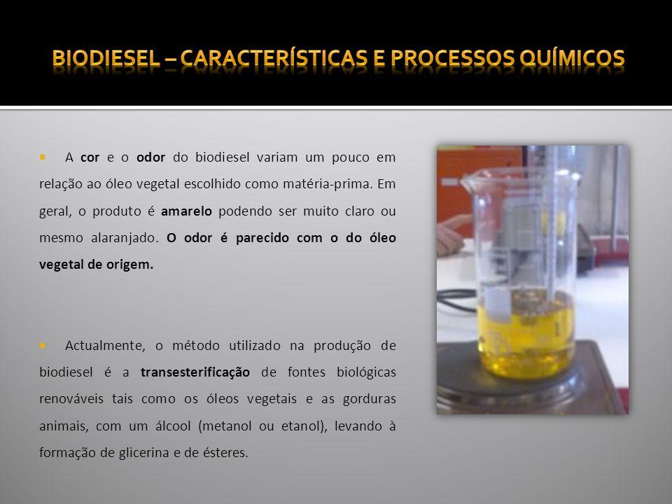 A transesterificação consiste na cisão de um éster quando reage com álcool, em geral o metanol, na presença de um catalisador.