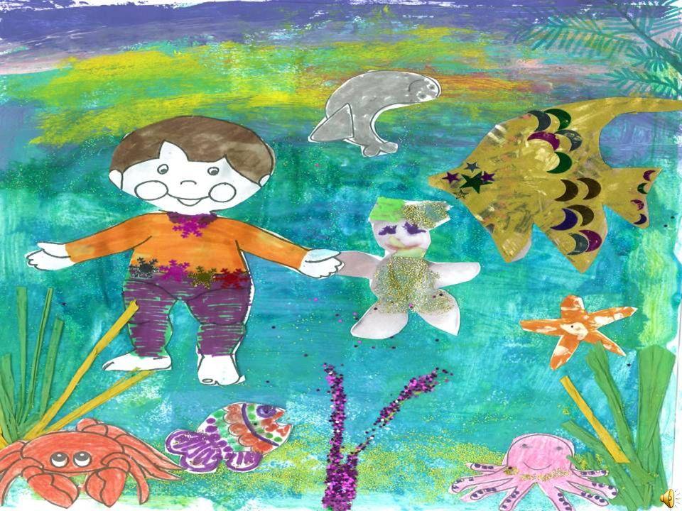 Nadaram, muitos, muitos dias e noites até que chegaram a uma ilha rodeada de corais. No fundo do mar estava um golfinho à sua espera para o levar mar