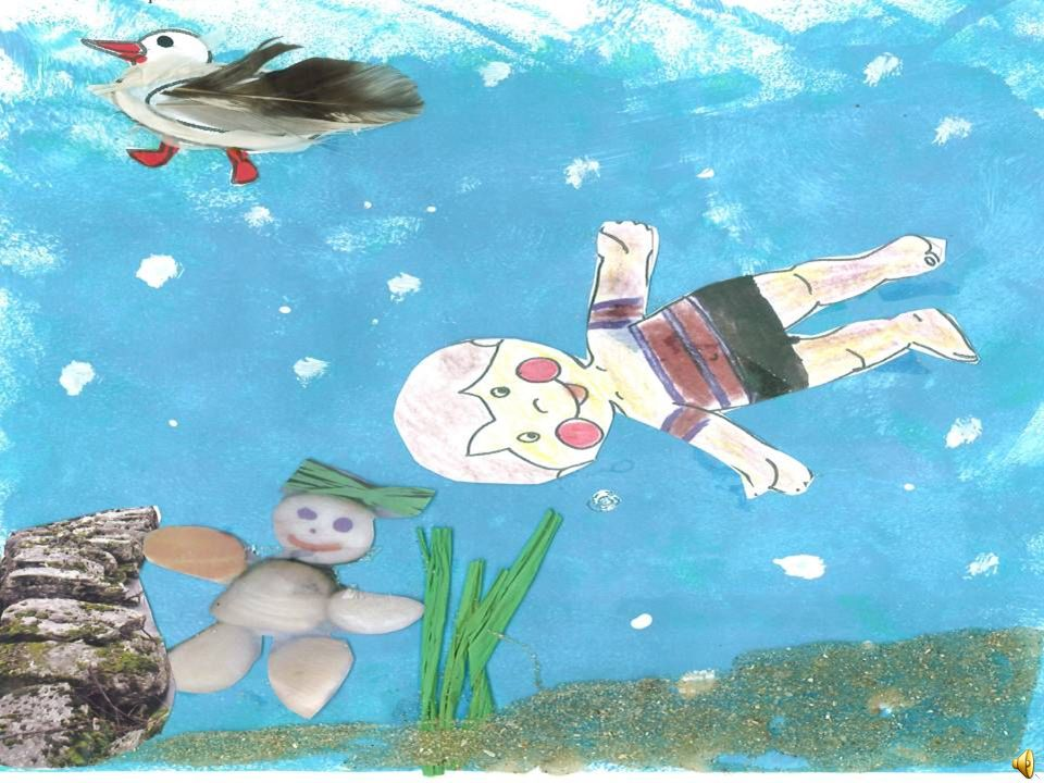O menino tinha imensa pena de não ser peixe para poder ir ao fundo do mar. Um dia estava a tomar banho no mar, ouviu uma gargalhada muito esquisita, p