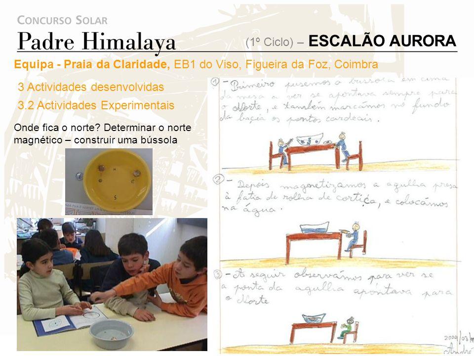 Deslocação ao Observatório Astronómico da Universidade de Coimbra: Visita ao museu do observatório. 3 Actividades desenvolvidas 3.1 Visitas de estudo