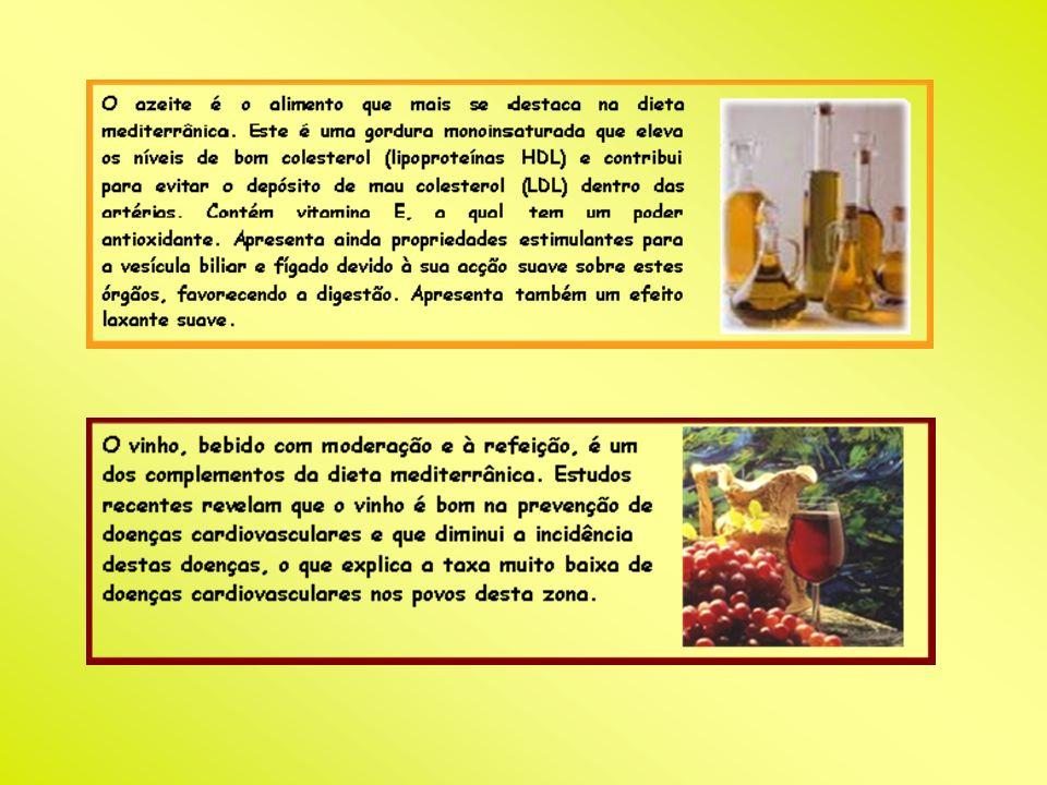 Países onde existe Dieta Mediterrânea A dieta mediterrânea é característica dos países da bacia do Mediterrâneo.