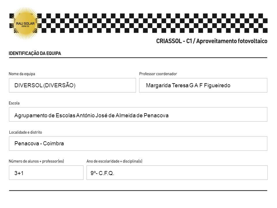 Margarida Teresa G A F Figueiredo Agrupamento de Escolas António José de Almeida de Penacova Penacova - Coimbra 9º- C.F.Q. DIVERSOL (DIVERSÃO) 3+1