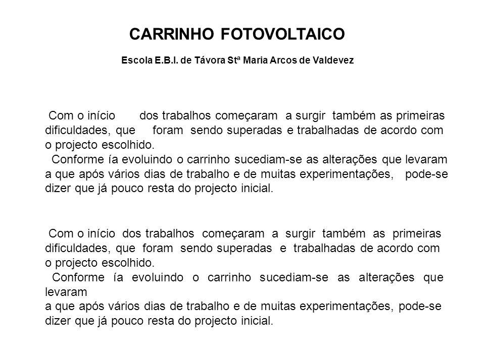 CARRINHO FOTOVOLTAICO Escola E.B.I.