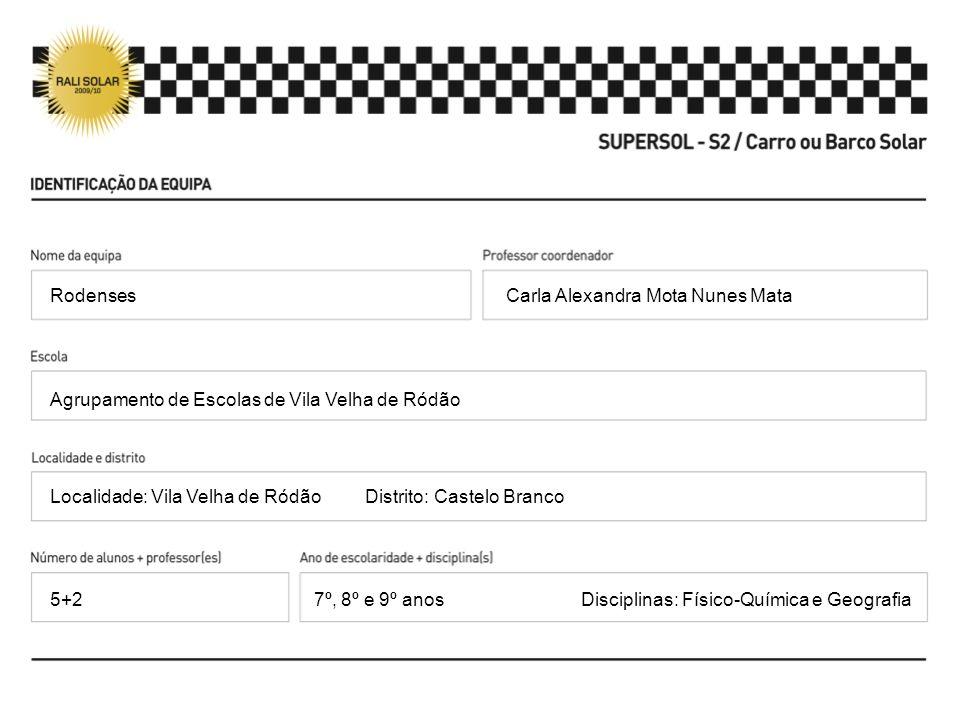 Carla Alexandra Mota Nunes Mata Agrupamento de Escolas de Vila Velha de Ródão Localidade: Vila Velha de Ródão Distrito: Castelo Branco 7º, 8º e 9º ano