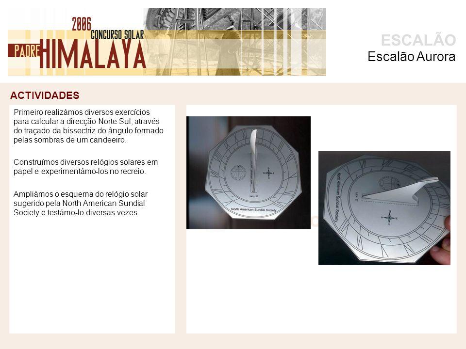 ACTIVIDADES foto ESCALÃO Uns alunos copiaram as marcações existentes nas ampliações para a base circular de madeira.
