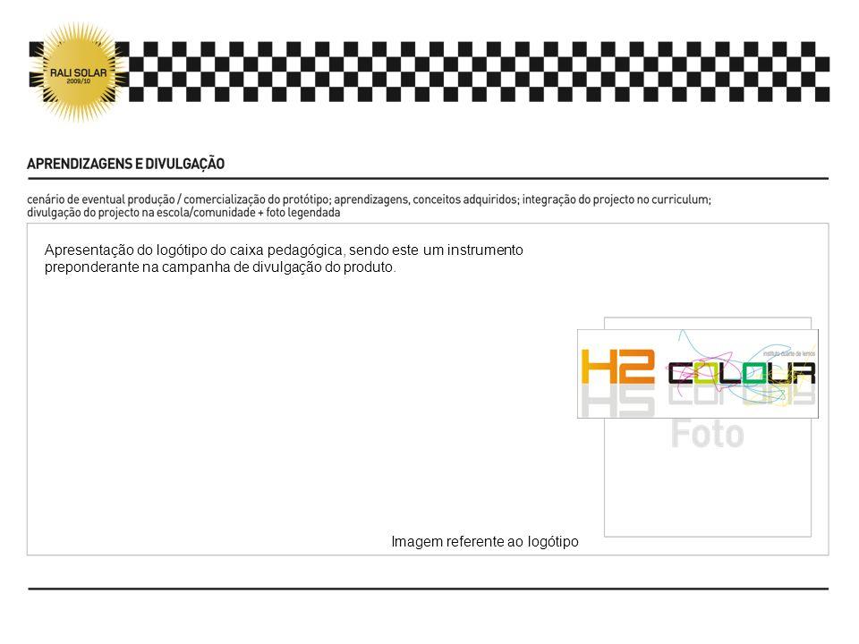 Apresentação do logótipo do caixa pedagógica, sendo este um instrumento preponderante na campanha de divulgação do produto. Imagem referente ao logóti