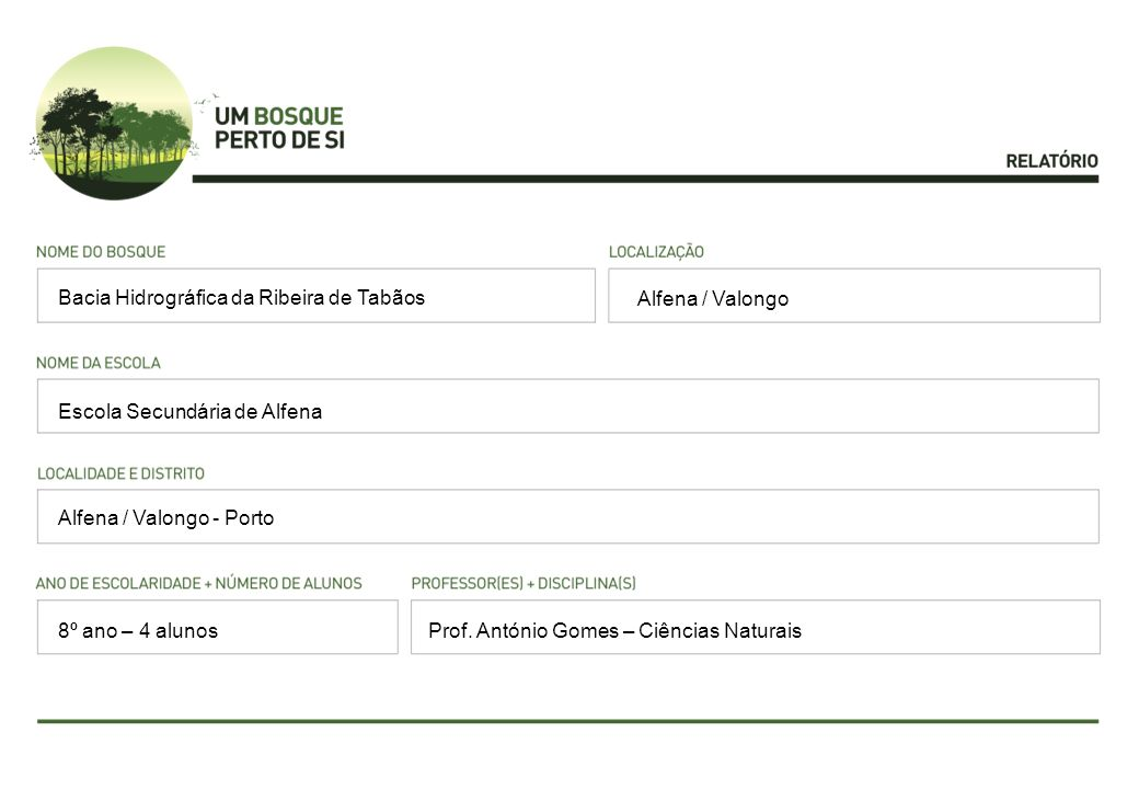Quercus robur, Pinus pinaster, Eucalyptus sp, Quercus suber, Chioglossa lusitanica, Trituros boscai, Rana perezi, Rana iberica, Turdus merula