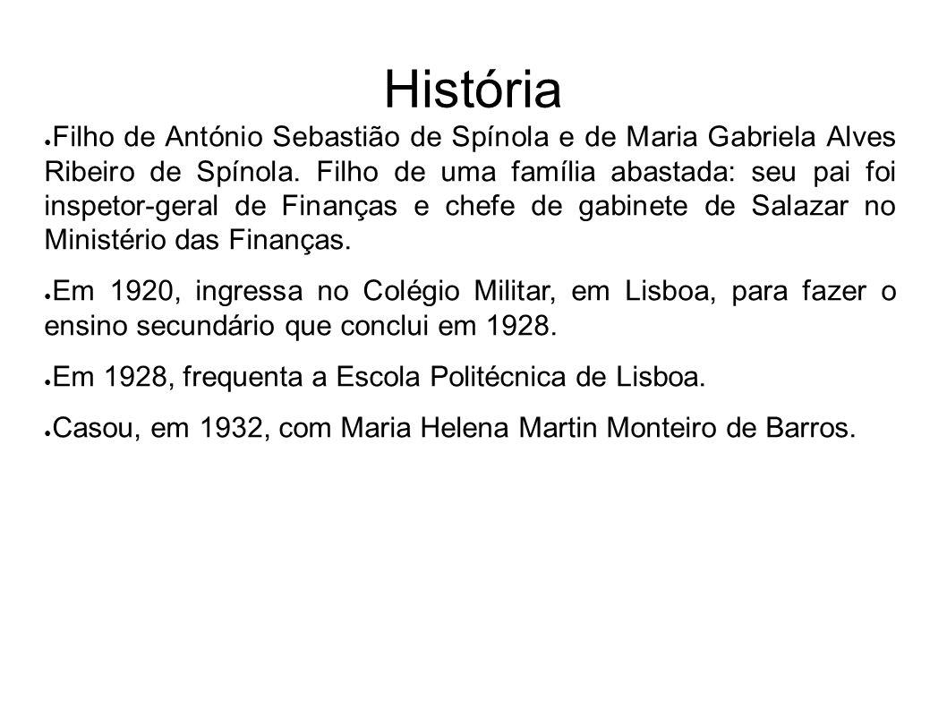 História Filho de António Sebastião de Spínola e de Maria Gabriela Alves Ribeiro de Spínola. Filho de uma família abastada: seu pai foi inspetor-geral