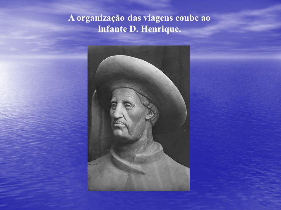 A organização das viagens coube ao Infante D. Henrique.