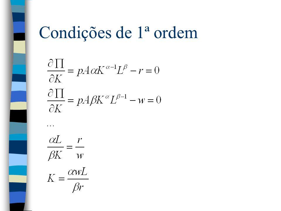 Condições de 1ª ordem