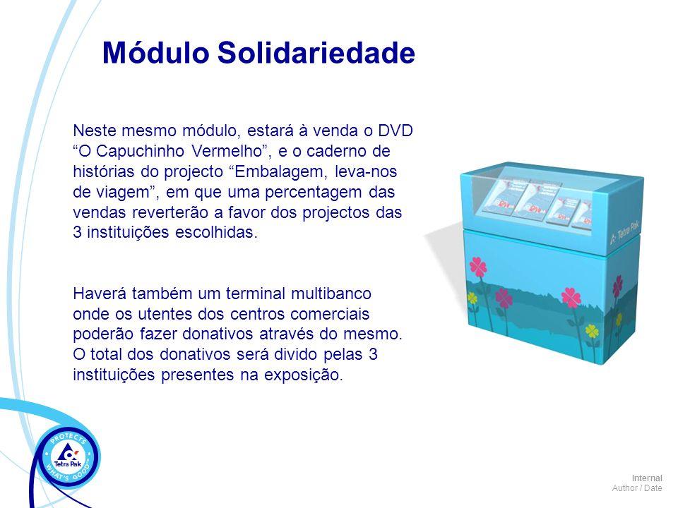 Internal Author / Date Neste mesmo módulo, estará à venda o DVD O Capuchinho Vermelho, e o caderno de histórias do projecto Embalagem, leva-nos de via