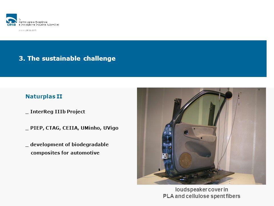 Centro para a Excelência e Inovação na Indústria Automóvel www.ceiia.com Naturplas II _ InterReg IIIb Project _ PIEP, CTAG, CEIIA, UMinho, UVigo _ dev