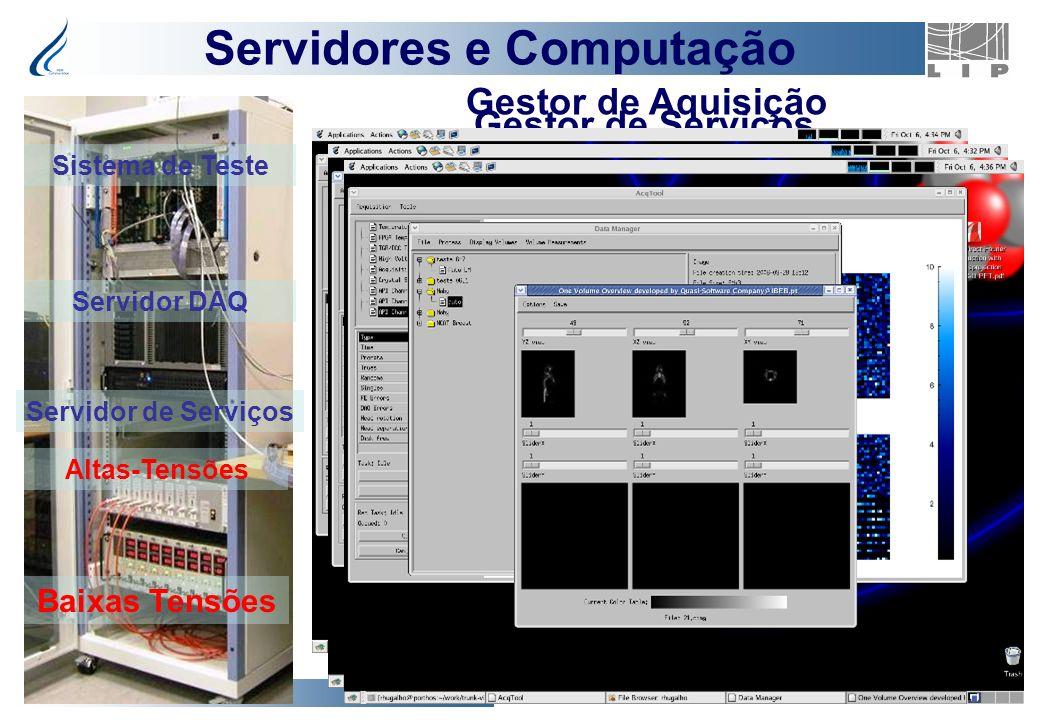 ClearPEM Project 16 Gestor de Serviços Gestor de Aquisição Servidor DAQ Servidor de Serviços Altas-Tensões Baixas Tensões Servidores e Computação Sist