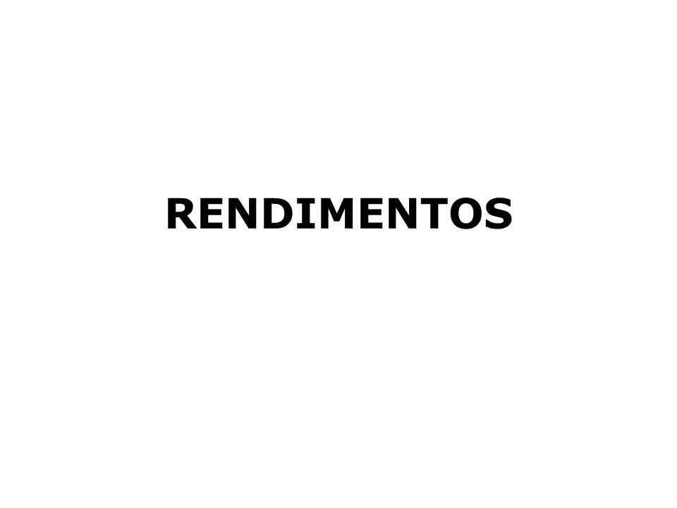 RENDIMENTOS