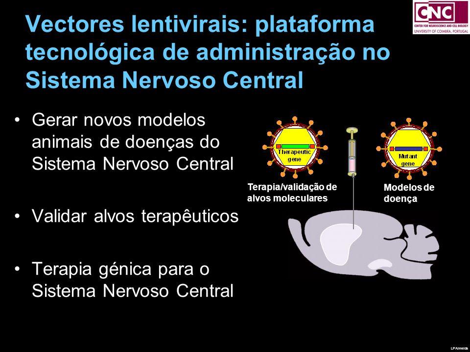 Vectores lentivirais: plataforma tecnológica de administração no Sistema Nervoso Central Gerar novos modelos animais de doenças do Sistema Nervoso Cen