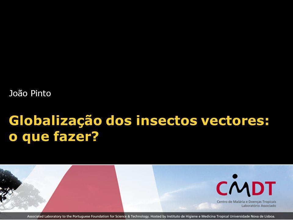 João Pinto Globalização dos insectos vectores: o que fazer?