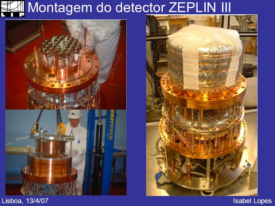 Montagem do detector ZEPLIN III Lisboa, 13/4/07Isabel Lopes