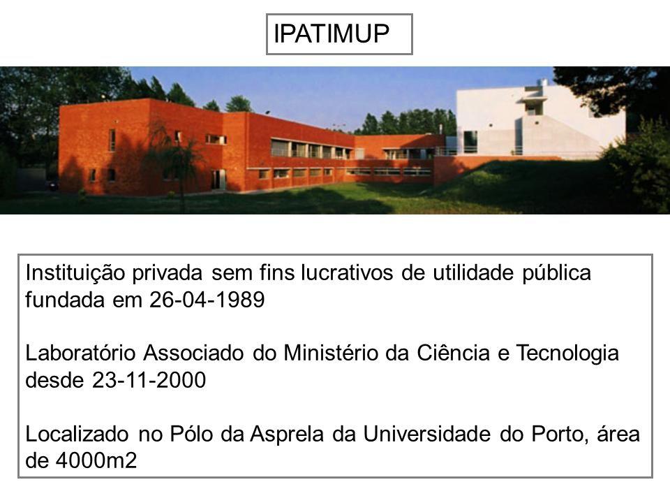 IPATIMUP Instituição privada sem fins lucrativos de utilidade pública fundada em 26-04-1989 Laboratório Associado do Ministério da Ciência e Tecnologi