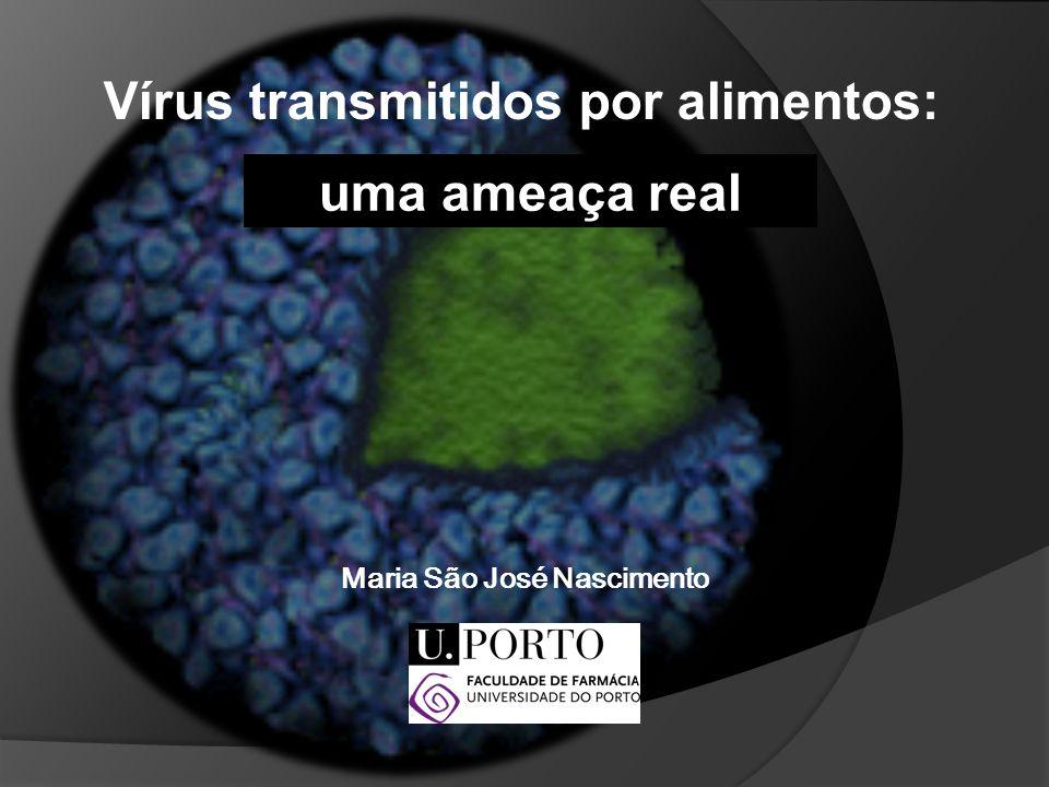 Doenças transmitidas através dos alimentos Bactérias têm sido tradicionalmente responsabilizadas por este tipo de doenças MAS HOJE: Os vírus são reconhecidos como os principais responsáveis pelos surtos epidémicos associados à ingestão de águas e alimentos