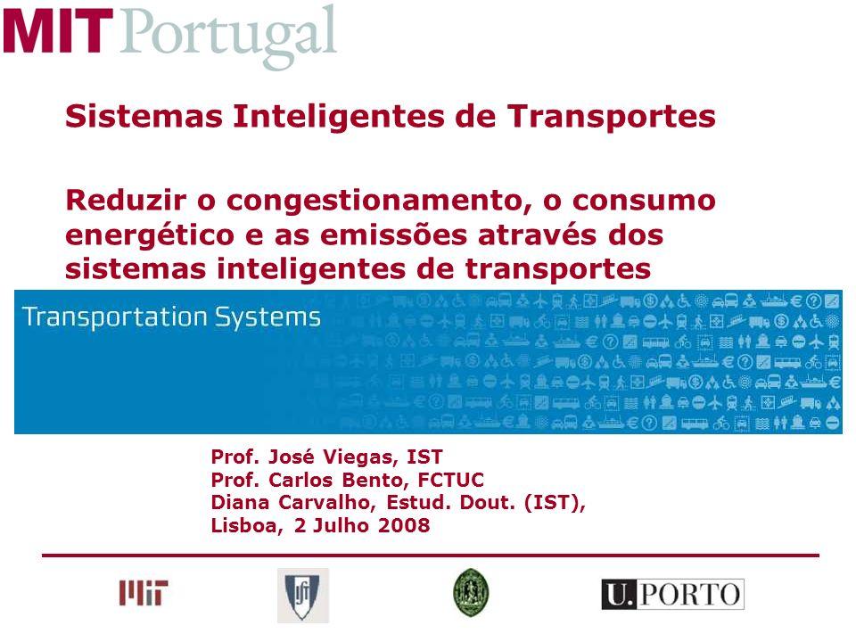 Prof. José Viegas, IST Prof. Carlos Bento, FCTUC Diana Carvalho, Estud. Dout. (IST), Lisboa, 2 Julho 2008 Sistemas Inteligentes de Transportes Reduzir