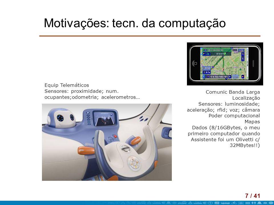 18 / 41 CityMotion – Ex Apl Taxi Fleet Dados actuais de várias fontes => MODELOS ACTUAIS Simuladores + indução => MODELOS PARA OS TRANSPORTES DO FUTURO (+ EFICIENTES) (+ SUSTENTÁVEIS)