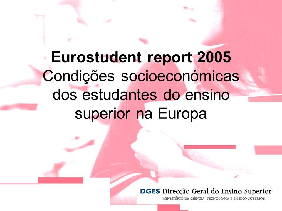 Eurostudent report 2005 Condições socioeconómicas dos estudantes do ensino superior na Europa