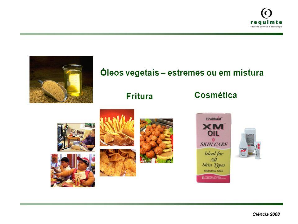 Ciência 2008 Óleos vegetais – estremes ou em mistura Fritura Cosmética