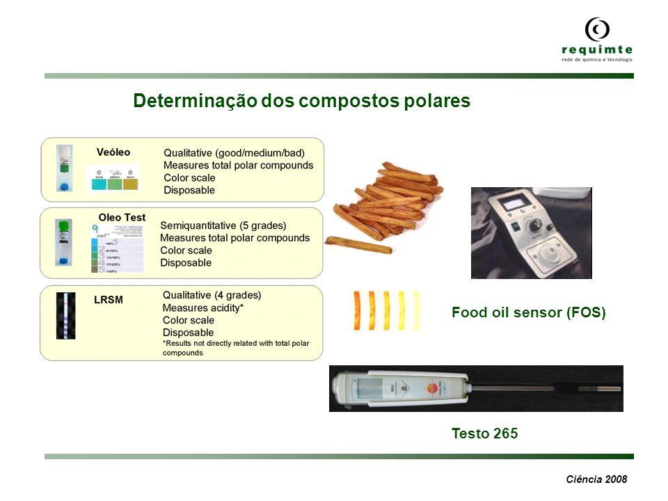 Ciência 2008 Food oil sensor (FOS) Testo 265 Determinação dos compostos polares