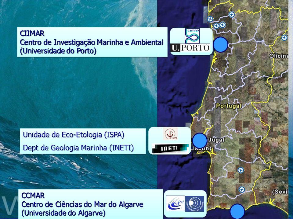 CIIMAR Centro de Investigação Marinha e Ambiental (Universidade do Porto) CCMAR Centro de Ciências do Mar do Algarve (Universidade do Algarve) Unidade