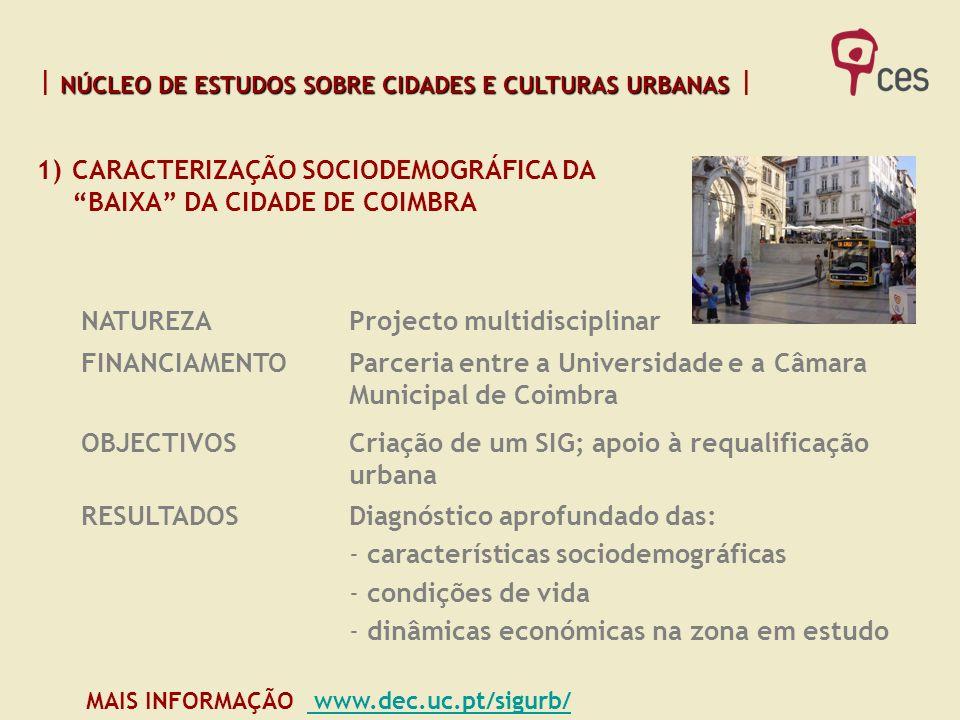 NÚCLEO DE ESTUDOS SOBRE CIDADES E CULTURAS URBANAS NÚCLEO DE ESTUDOS SOBRE CIDADES E CULTURAS URBANAS MAIS INFORMAÇÃO www.dec.uc.pt/sigurb/ www.dec.uc