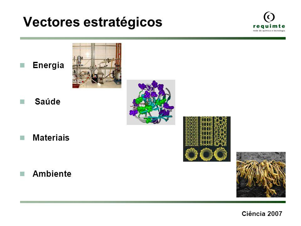 Ciência 2007 Vectores estratégicos Energia Saúde Materiais Ambiente
