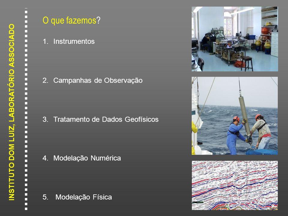 INSTITUTO DOM LUIZ, LABORATÓRIO ASSOCIADO O que fazemos? 1.Instrumentos 2.Campanhas de Observação 3.Tratamento de Dados Geofísicos 4.Modelação Numéric