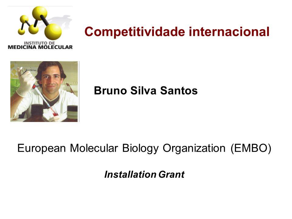 Competitividade internacional European Molecular Biology Organization (EMBO) Installation Grant Bruno Silva Santos