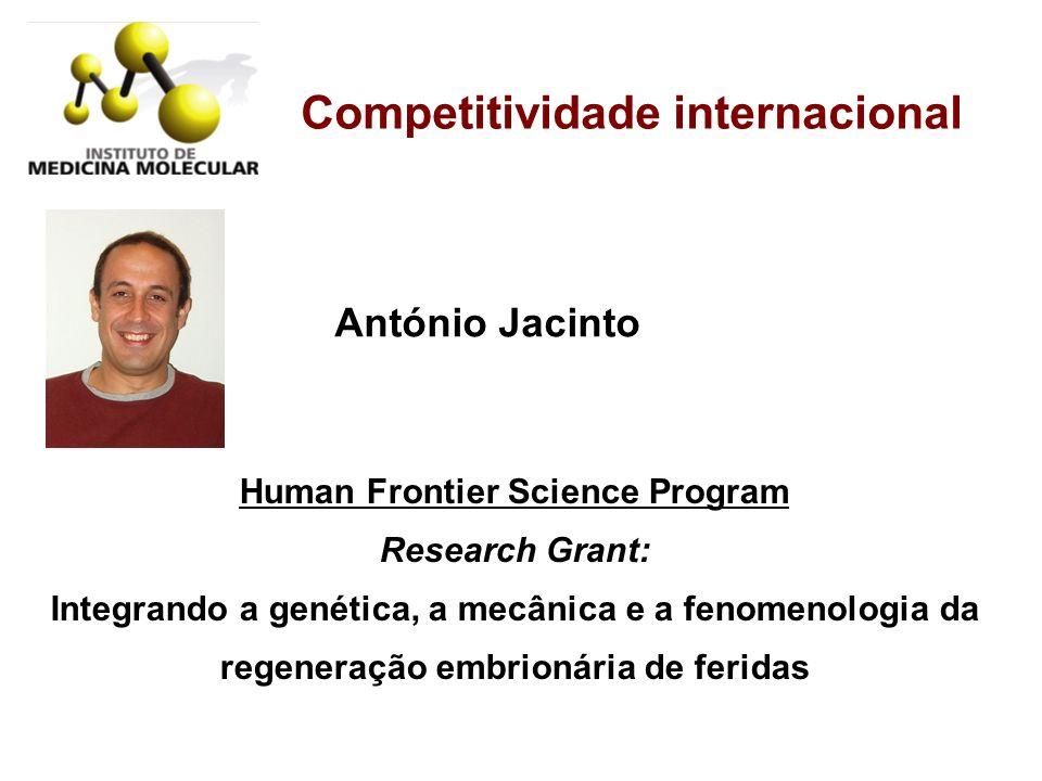 Competitividade internacional Human Frontier Science Program Research Grant: Integrando a genética, a mecânica e a fenomenologia da regeneração embrio