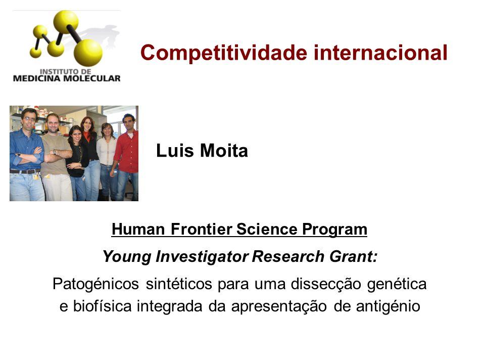 Competitividade internacional Luis Moita Human Frontier Science Program Young Investigator Research Grant: Patogénicos sintéticos para uma dissecção g