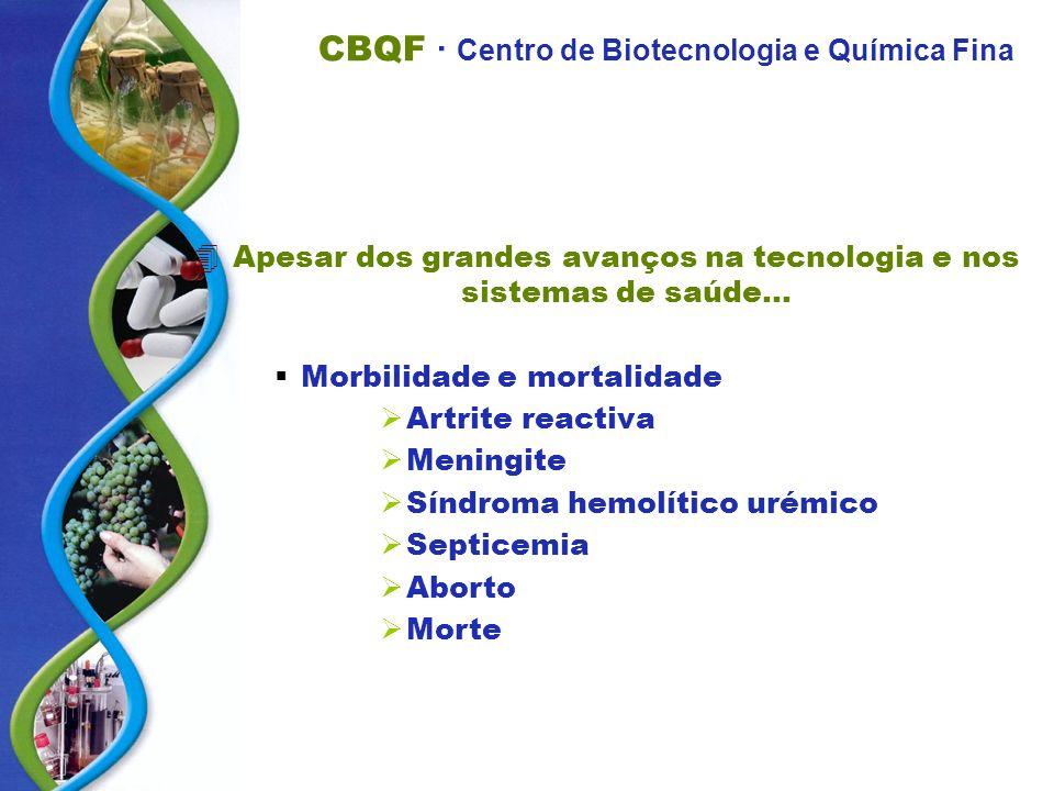 CBQF · Centro de Biotecnologia e Química Fina 4Apesar dos grandes avanços na tecnologia e nos sistemas de saúde... Morbilidade e mortalidade Artrite r