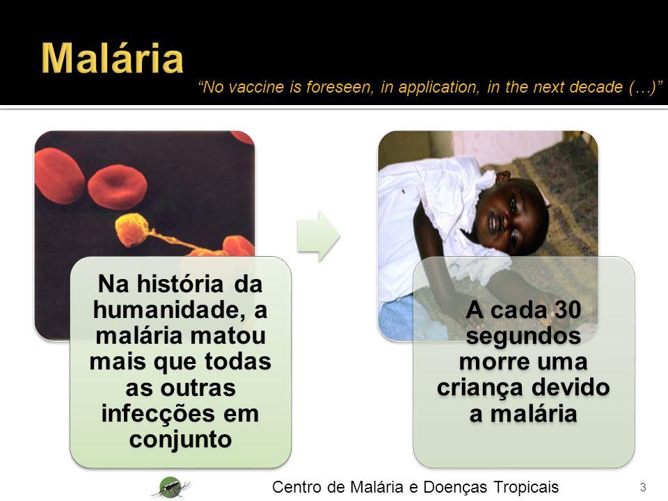 Na história da humanidade, a malária matou mais que todas as outras infecções em conjunto A cada 30 segundos morre uma criança devido a malária 3 Cent