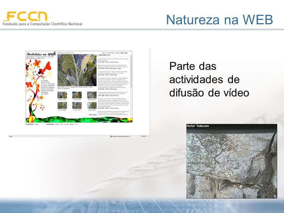 Natureza na WEB Parte das actividades de difusão de vídeo