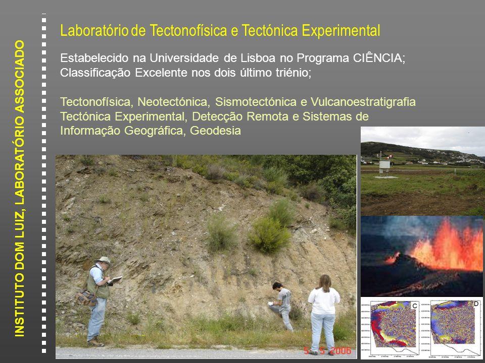 INSTITUTO DOM LUIZ, LABORATÓRIO ASSOCIADO Laboratório de Tectonofísica e Tectónica Experimental Estabelecido na Universidade de Lisboa no Programa CIÊ