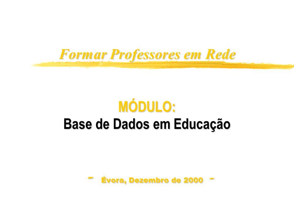 Formar professores em rede - 2000 B2 - A nossa proposta de Conteúdos 1.
