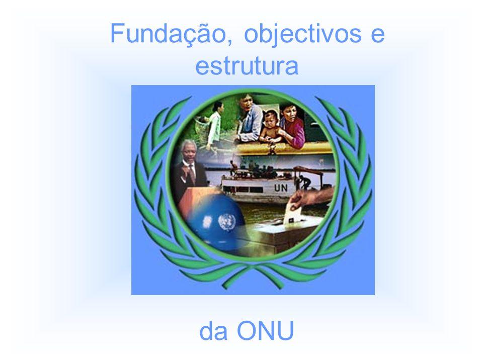 Fundação, objectivos e estrutura da ONU