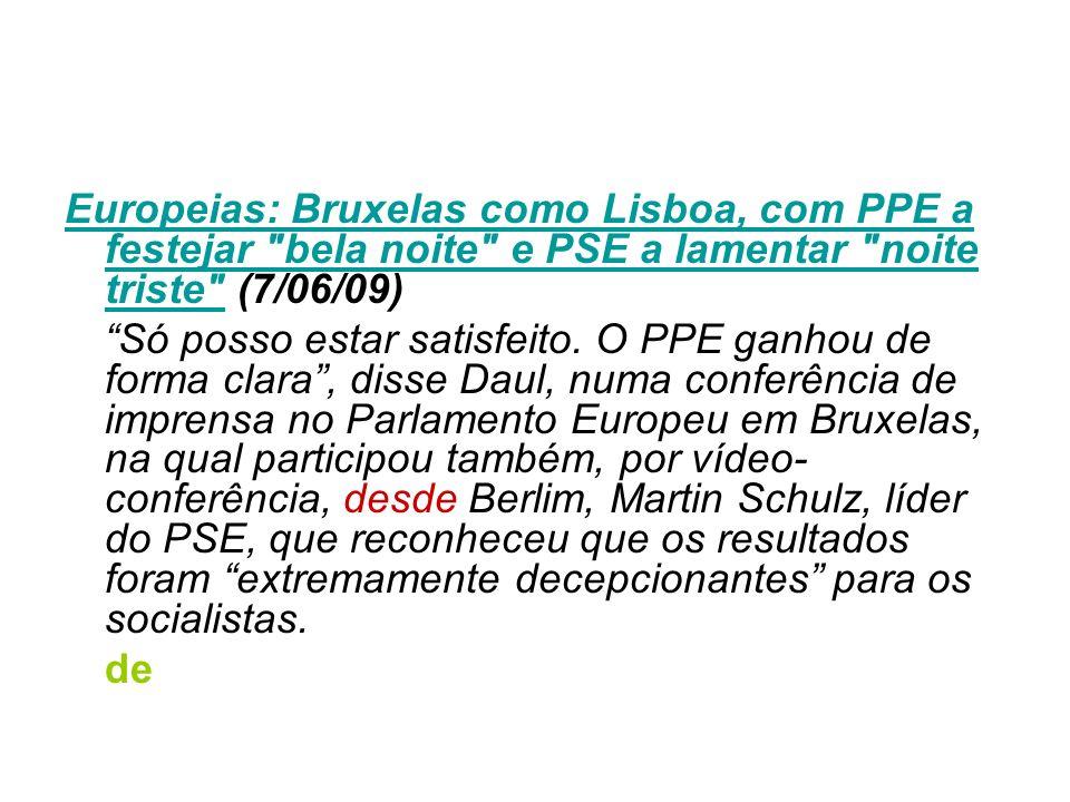 Europeias: Bruxelas como Lisboa, com PPE a festejar