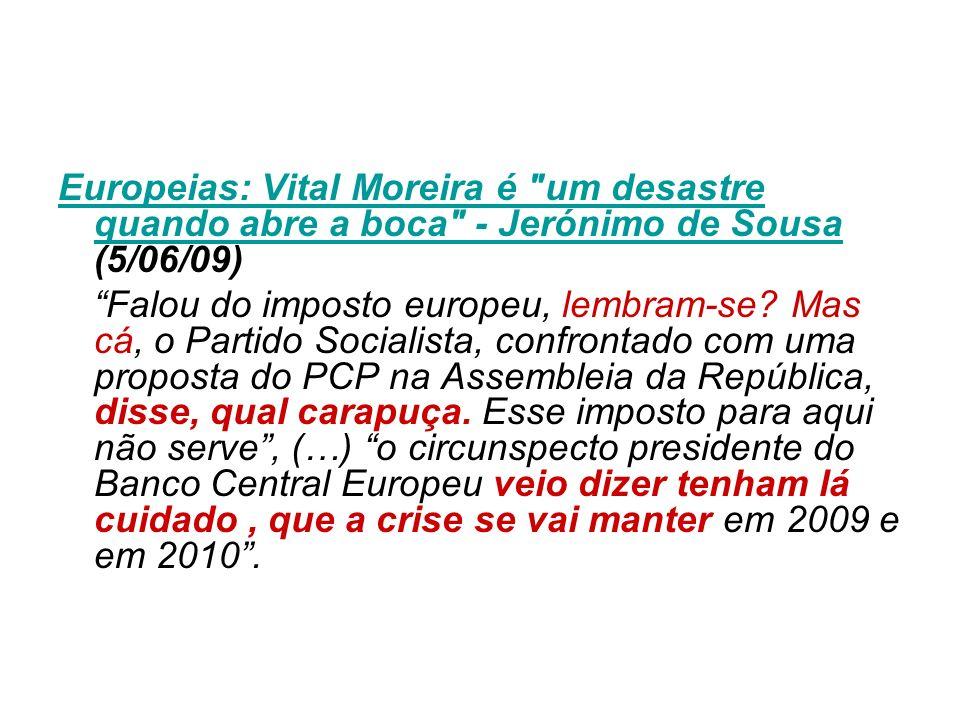 Europeias: Vital Moreira é
