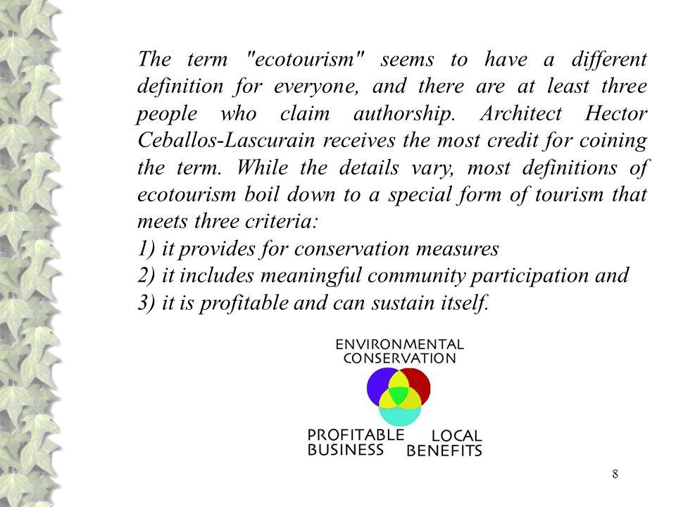 69 Abaixo apresentamos os principais impactos e benefícios do ecoturismo em nível local e regional, lembrando que os impactos podem ser minimizados e os benefícios potencializados, desde que suas atividades sejam correctamente planejadas.
