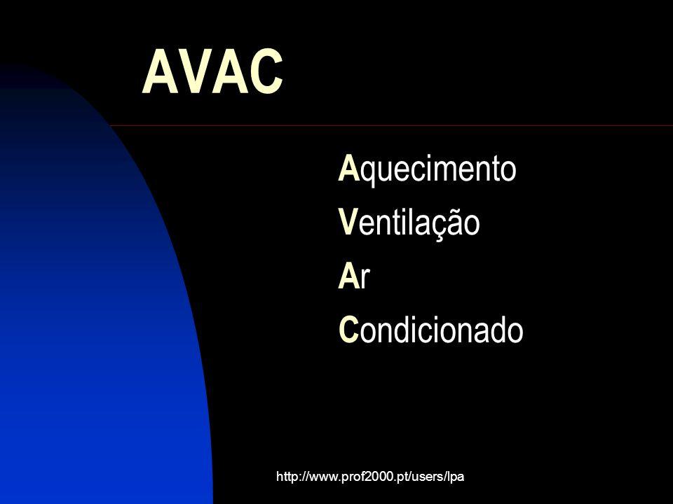 http://www.prof2000.pt/users/lpa AVAC A quecimento V entilação A r C ondicionado