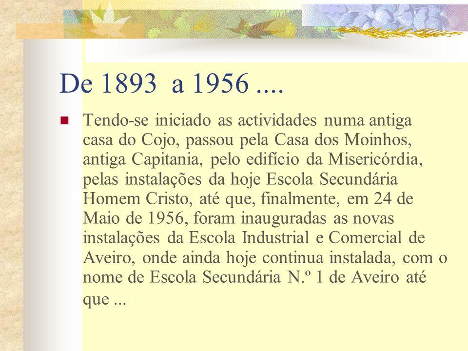 De 1893 a 1956.... Tendo-se iniciado as actividades numa antiga casa do Cojo, passou pela Casa dos Moinhos, antiga Capitania, pelo edifício da Miseric