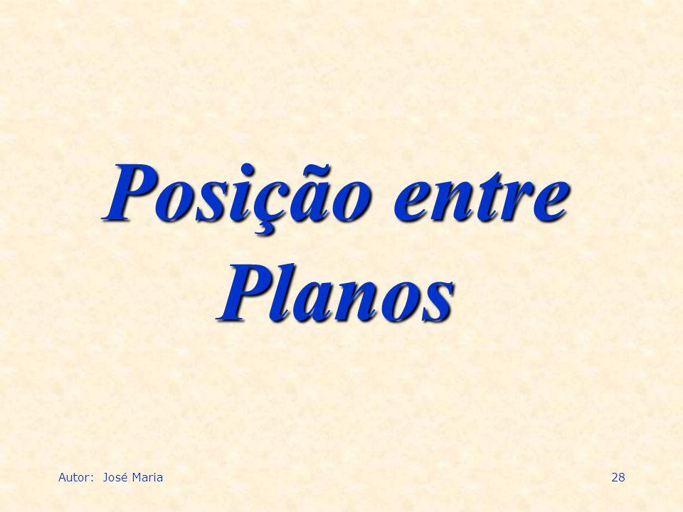 Autor: José Maria28 Posição entre Planos