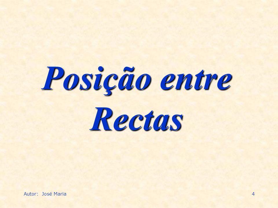 Autor: José Maria4 Posição entre Rectas