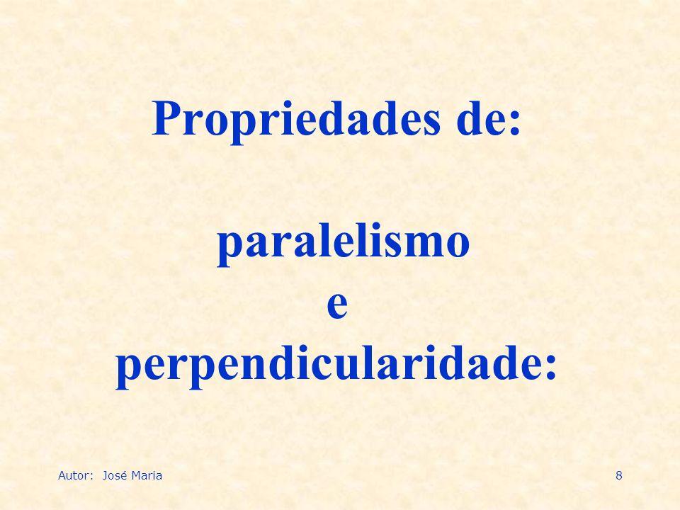 8 Propriedades de: paralelismo e perpendicularidade: