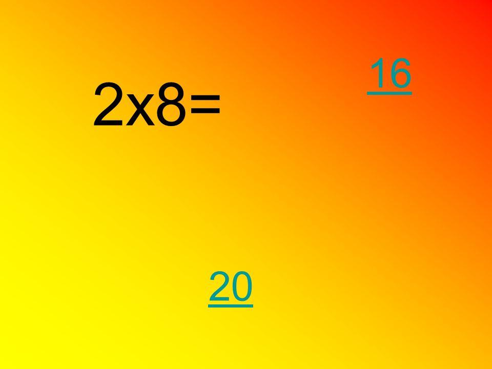 2x8= 20 16